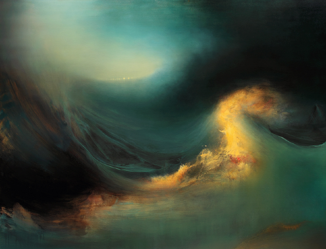Samantha Keely Smith (USA) - Mutiny, 2012-2013 Paintings: Oil, Enamel, Shellac on Canvas
