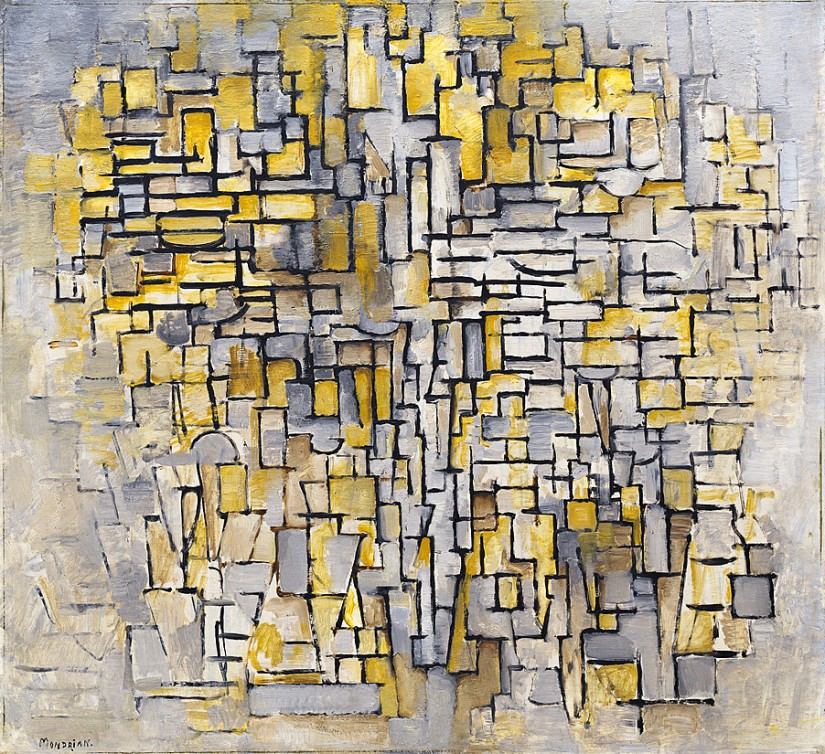 Tableau No. 2/Composition No. VII by Piet Mondrian