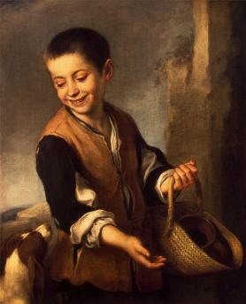 Boy with a Dog by Bartolome Esteban Murillo