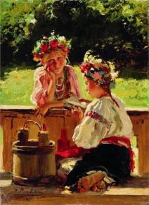 Girls lightened by sun Vladimir Makovsky