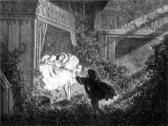 Reclining Upon A Bed Was A Princess Of Radiant Beauty by Gustave Dore
