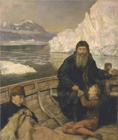 The Last Voyage of Henry Hudson by John Collier painted in 1881 he was abandoned by his crew on his 4th voyage in Hudson Bay never to be seen again.