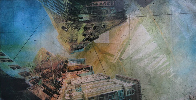 Abstraction by Liz Brizzi Photo and Acrylic Mixed Media Collage