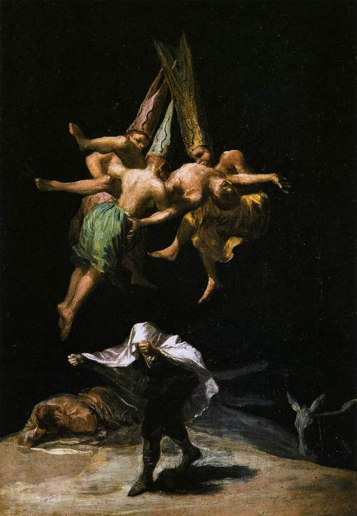Francisco Goya; Witches in the Air 1798
