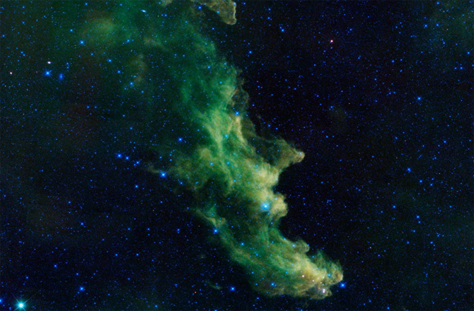 Witch Nebula captured by  NASA's Wide-Field Infrared Survey Explorer, or WISE