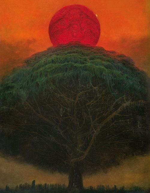 Untitled painting by Zdzisław Beksiński