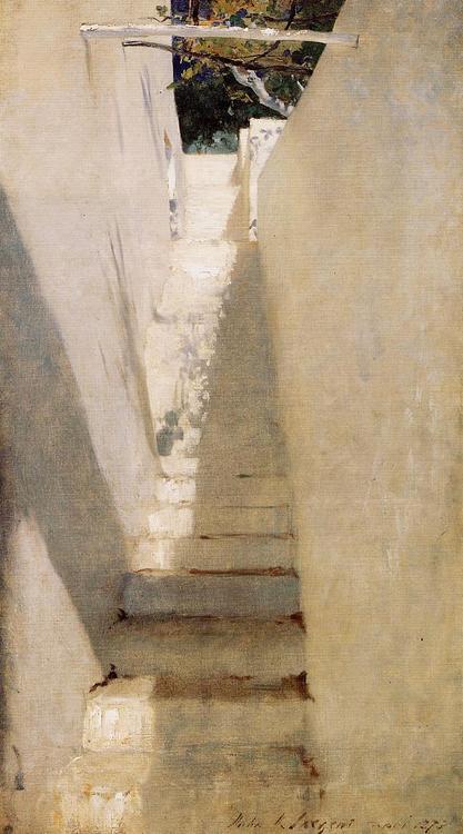 Staircase in Capri  John Singer Sargent 1878