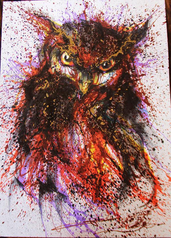Painting and Street Art by Hua Tunan – Like Barley Bending Freedom Birds Tumblr