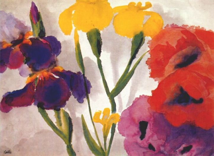 Irises and Poppies