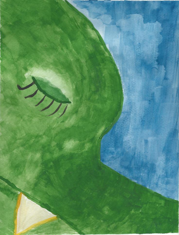 She Sleeps - Water Color - Lisa Cox