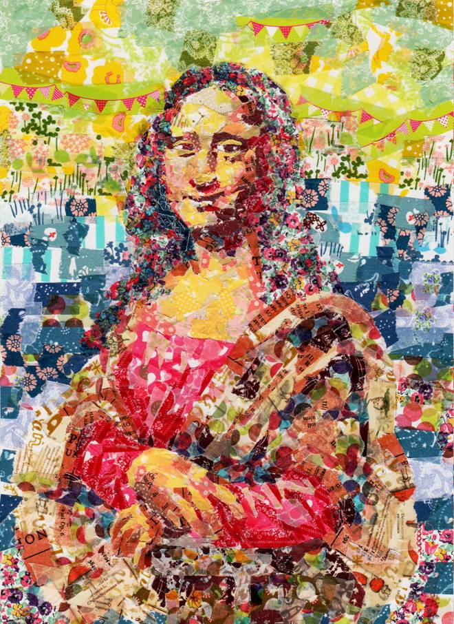 "Collage of ""Mona Lisa"" by Leonardo da Vinci"