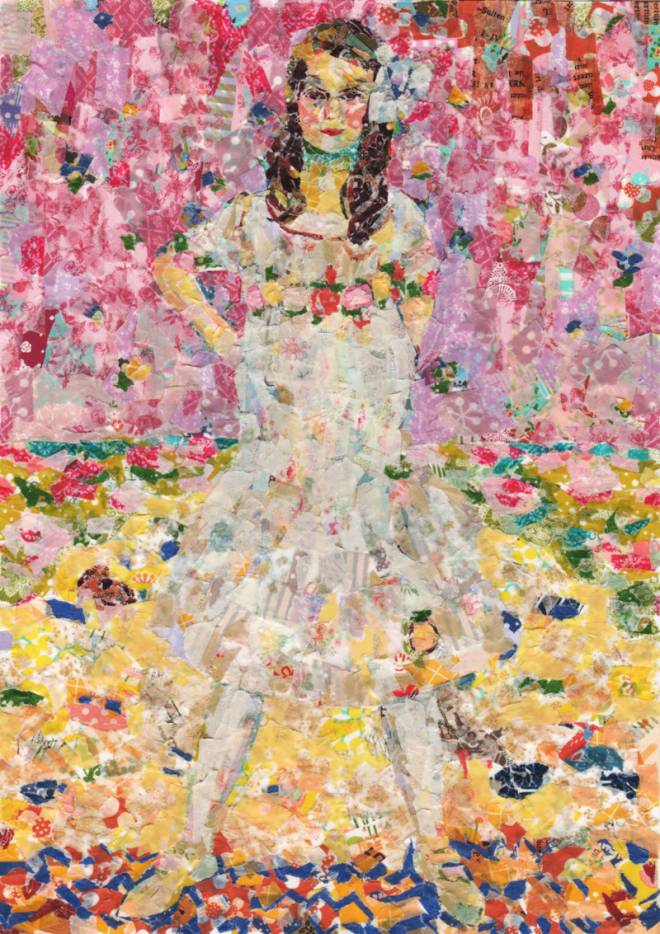 "Collage of ""Mada Primavesi"" by Gustav Klimt"