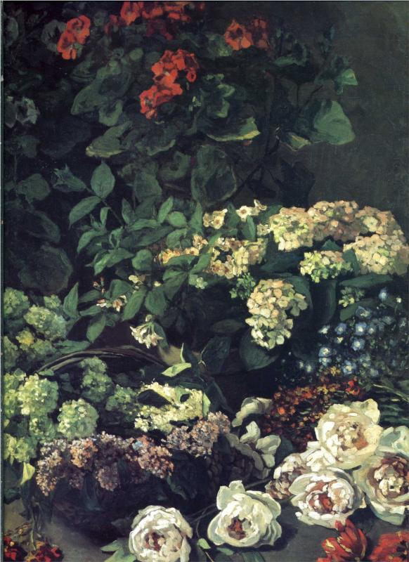 Spring Flowers, Oil painting by Claude Monet 1864