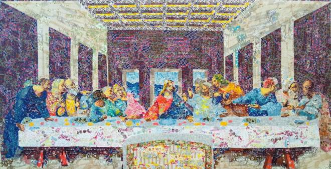 "Collage of ""The Last Supper"" by Leonardo Da Vinci"