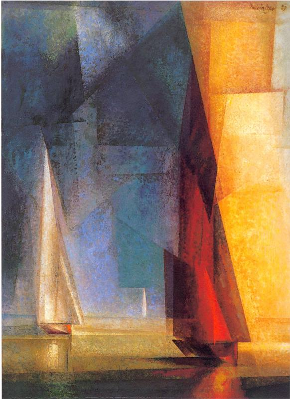 Stiller Tag am Meer III by Lyonel Feininger, 1929