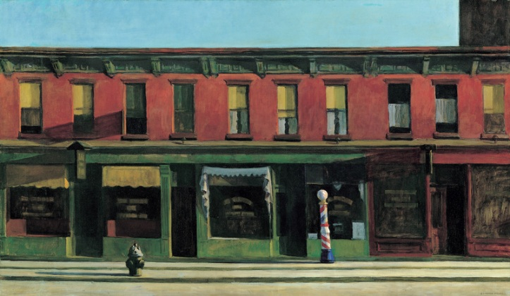 Early Sunday Morning by Edward Hopper, 1930  Whitney Museum of American Art, New York