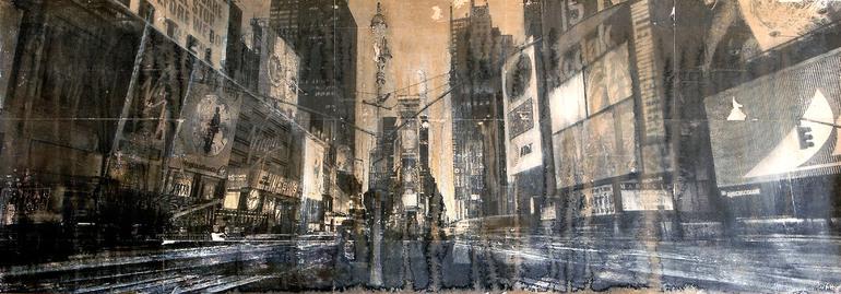 """""""Times Square""""; Collage by Dario Moschetta"""