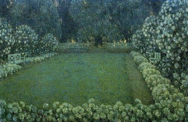 The White Garden at Twilight by Henri Le Sidaner