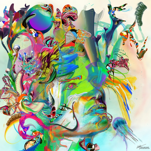 Visible Unrealities Mixed Media on Canvas by Archan Nair
