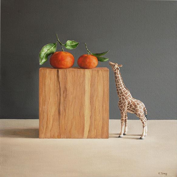 """Giraffe with Tangerine"" by Mia Tarney"