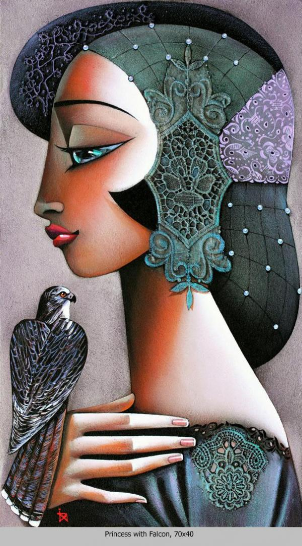 Princess With Falcon
