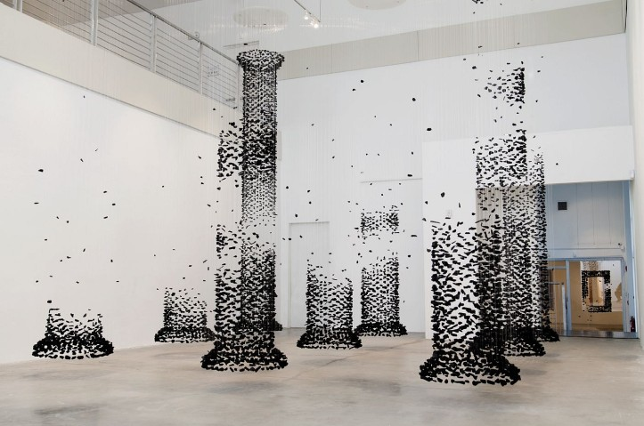 An Aggregation (Column) 2014 Coal by Seon Ghi Bahk