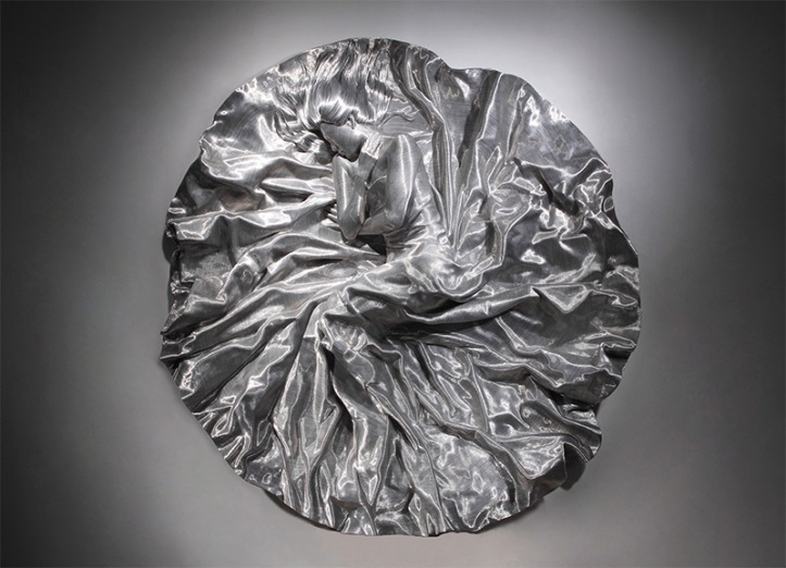 """""""SON MYUNG HEE"""" Aluminum wire from a fiberglass lifecasting by Seun Mo Park"""