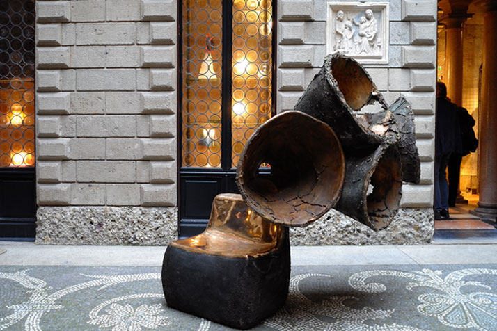 Auditorium, bronze piece, 2011 by Nacho Carbonell