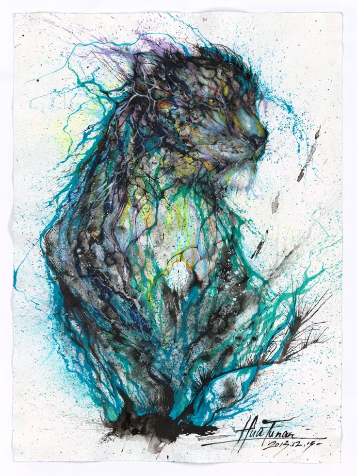 Blue Ink Leopard