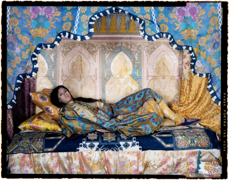 """from the """"Harem Revisited"""" Series by Lalla Essaydi"""