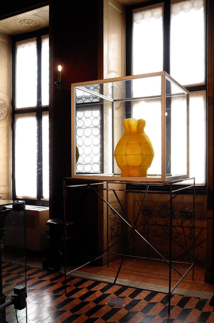 'Martha Hertford Vase'' in beewax designed by Tomáš Libertíny and produced by bees