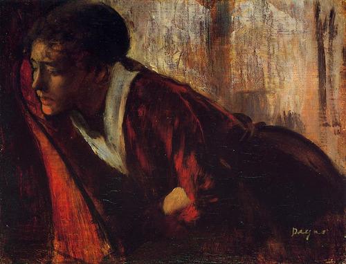 Melancholy by Edgar Degas  1874