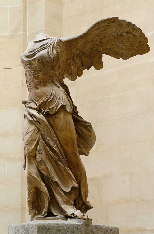"""The Statue """"The Winged Victory of Samothrace"""" before restoration"""