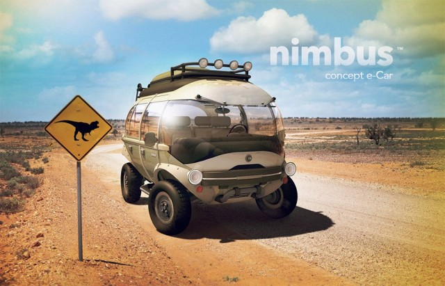 The Nimbus e-Car Concept by Brazilian artist Eduardo Galvani