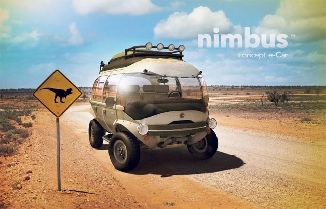 The Nimbus e-Car Concept by Brazilian artist Eduardo Galvani