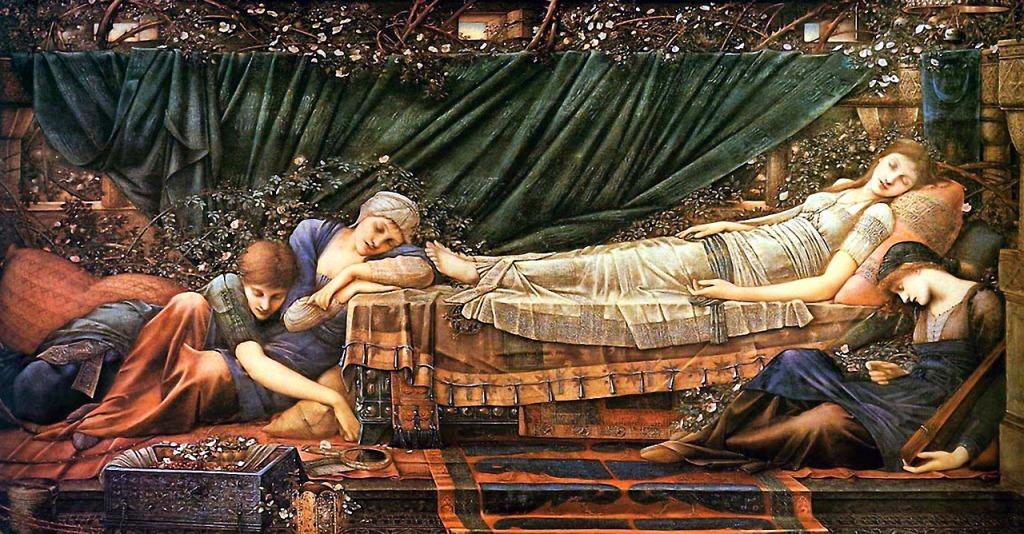 The Rose Bower ~ Edward Burne-Jones (1885-90)
