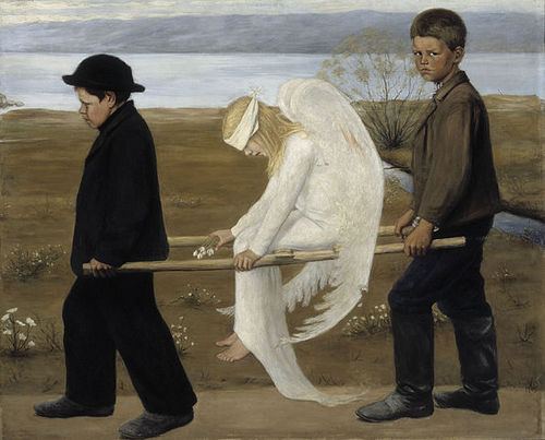 The Wounded Angel, 1903, Ateneum, Helsinki by Hugo Simberg