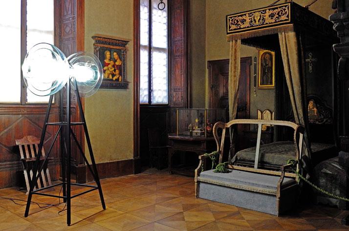 Transmission Lamp by Studio DeForm (Czech Repubblic). Concrete Sofa, by JamesPlumb