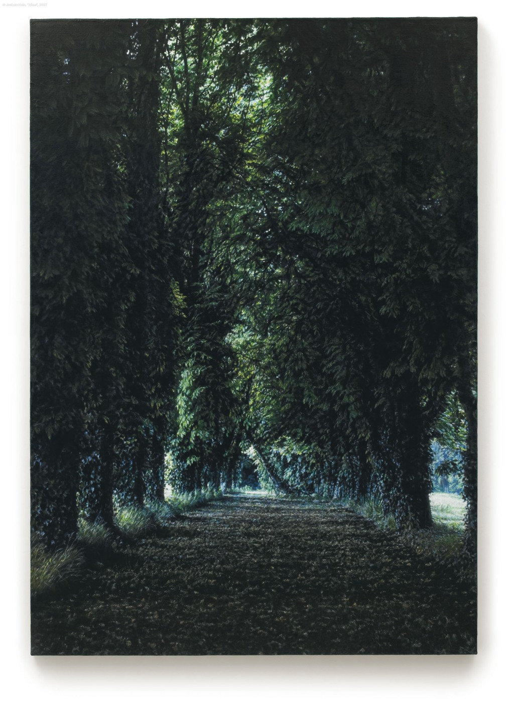 """Allee"" Acrylic on Jute - by Jochen Hein"