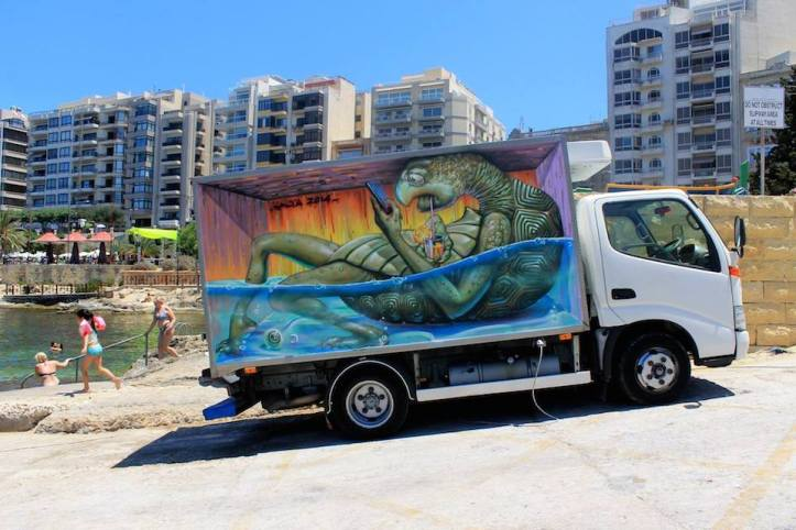 By Wild Drawing in Malta Sliema Street Art Festival