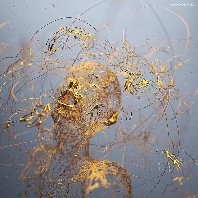 Golden Boy - Digital Art by Adam Martinakis