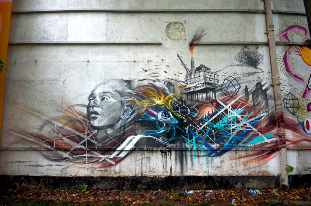 Street Art by Li Hill in Guangzhou China, 2012