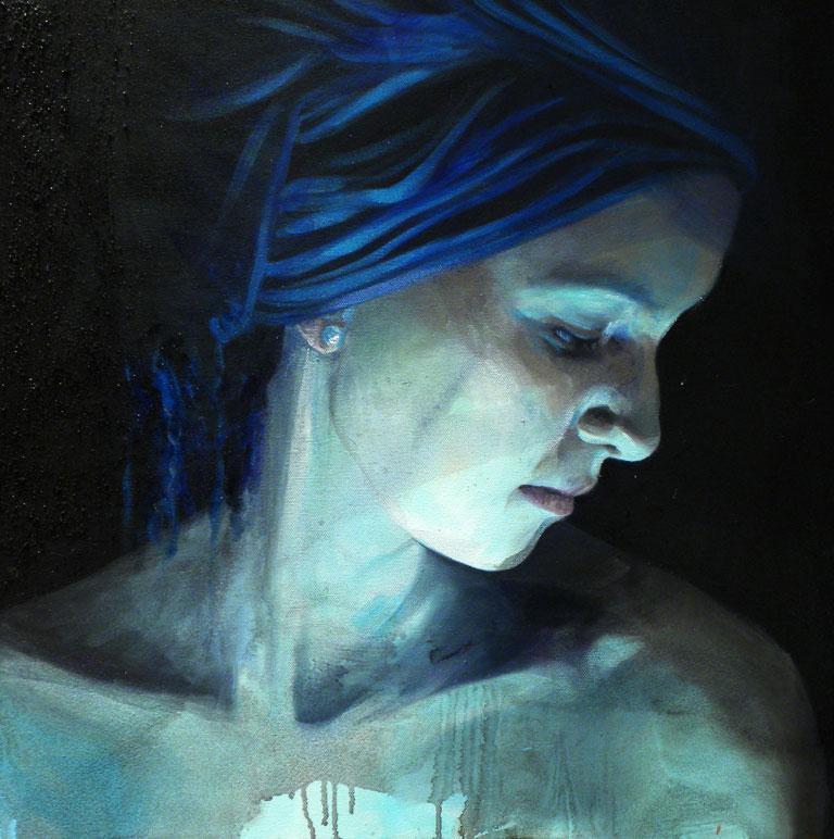 Profile of Alessia in Blue by Roberta Coni