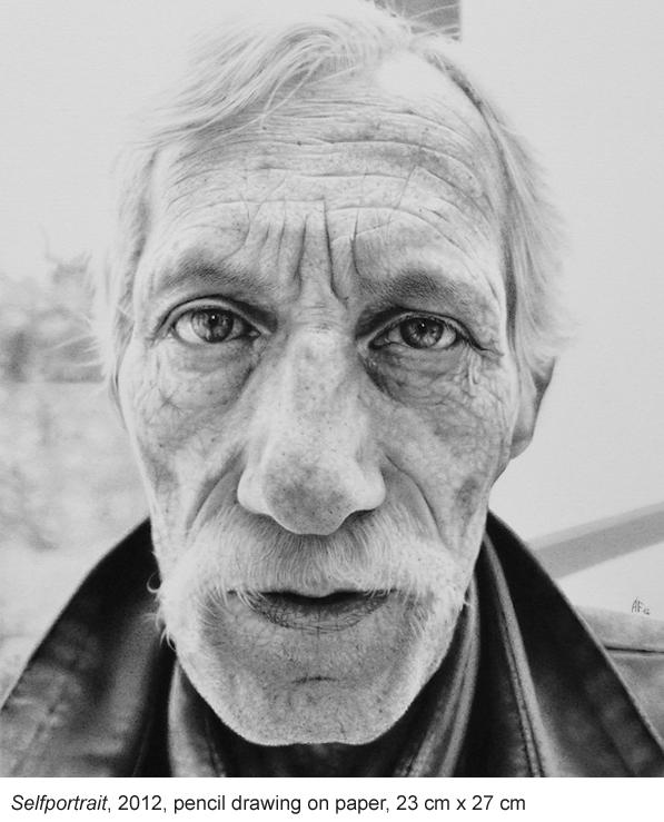 Self Portrait, 2012 Pencil on Paper by Antonio Finelli