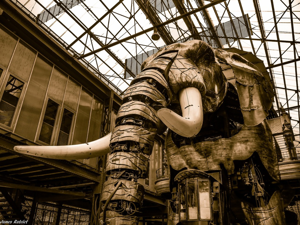 THE GRAND ÉLÉPHANT of the Les Machines De L'ile in Nantes, France