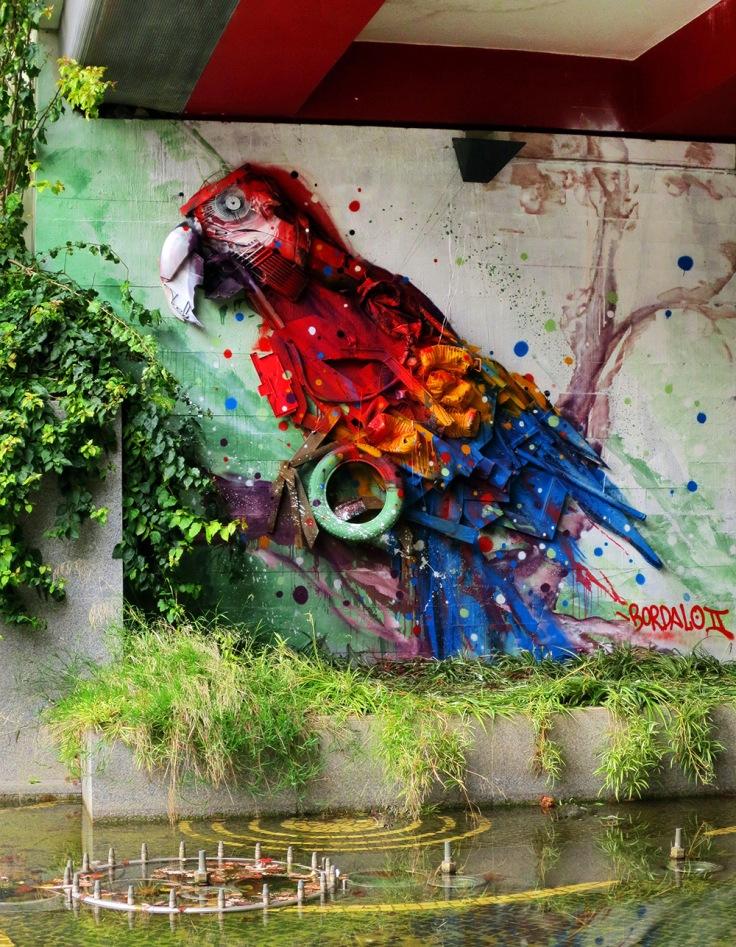 Untitled Street Art by Bordallo II Portugese Artist in Lisbon, Spain