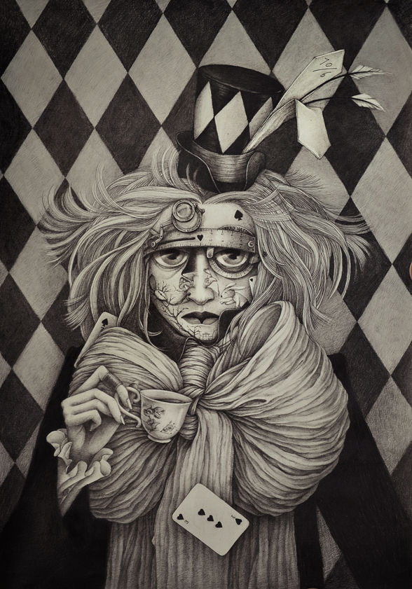 The Mad Hatter - Illustration by Alice Lin