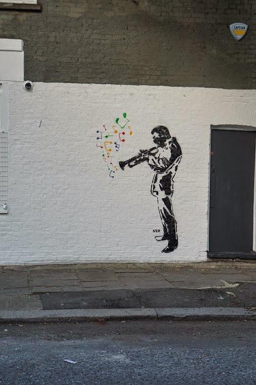 -Miles Davis- Street art in London, UK, by SYD StreetART
