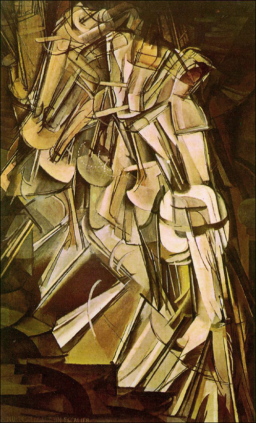 Nude Descending a Staircase - Marcel Duchamp