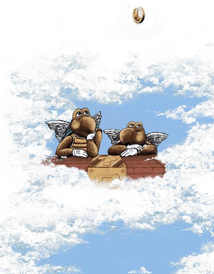 """Turtle Angels (with a nod to Raphel """"Agnes de Sistine Madonna"""")"""